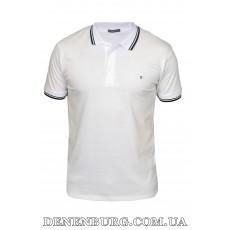 Футболка-поло мужская DESQUARTU 21-4718 белая