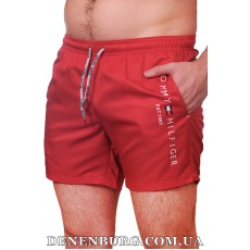 Шорты пляжные мужские TOMMY HILFIGER 21-6019 красные