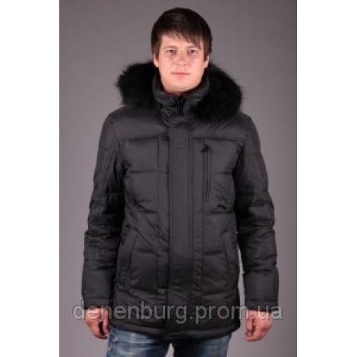 Куртка-пуховик мужская DRAUDA 1202 чёрная, тёмно-синяя
