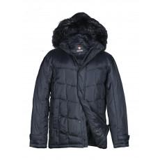 Куртка-пуховик мужская DRAUDA 12143 тёмно-синяя