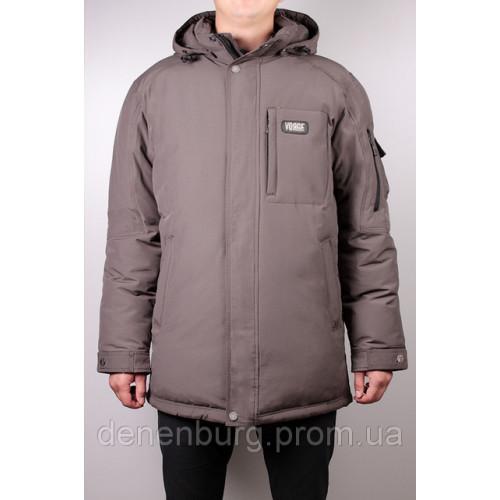 Куртка-пуховик мужская VOYAGE 133N (BT) хаки, чёрная