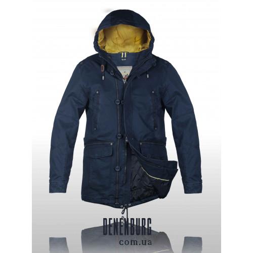 Куртка мужская демисезонная BLACK VINYL 15-863 тёмно-синяя
