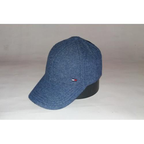 Бейсболка мужская утеплённая TOMMY HILFIGER 156-13 синяя