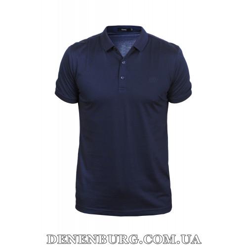 Футболка-поло мужская HUGO BOSS 19-089 тёмно-синяя