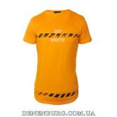 Футболка мужская OFF-WHITE 19-5117 оранжевая