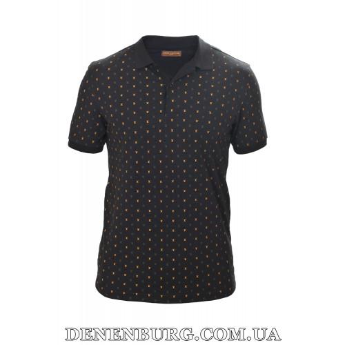 Футболка-поло мужская LOUIS VUITTON 19-5290 чёрная