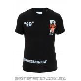 Футболка мужская OFF-WHITE 19-6817 чёрная