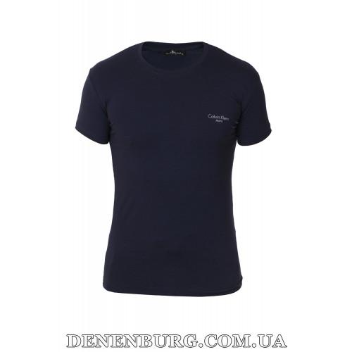 Футболка мужская CALVIN KLEIN 19-718 (B) тёмно-синяя