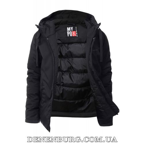 Куртка мужская зимняя REMAIN 19-7735 (1B) чёрная