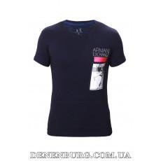 Футболка мужская ARMANI 19-AX774 тёмно-синяя