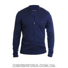 Кофта мужская TOMMY HILFIGER 3888 тёмно-синяя