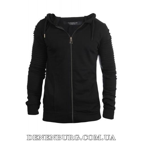 Кофта спортивная мужская утеплённая SUPERBLUE 3996 чёрная