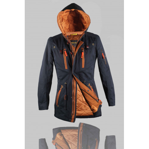 Куртка мужская демисезонная BLACK SNOW 6223 тёмно-синяя