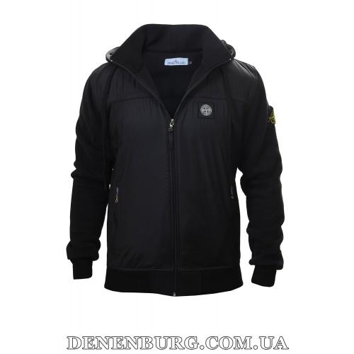 Костюм спортивный мужской утеплённый STONE ISLAND 6813 чёрный