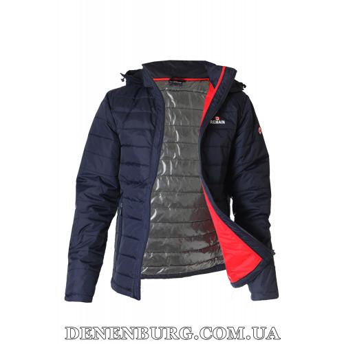Куртка мужская демисезонная REMAIN 8219-2 тёмно-синяя