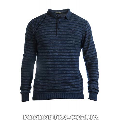 Свитер-поло мужской CAVALLI 9111 тёмно-синий