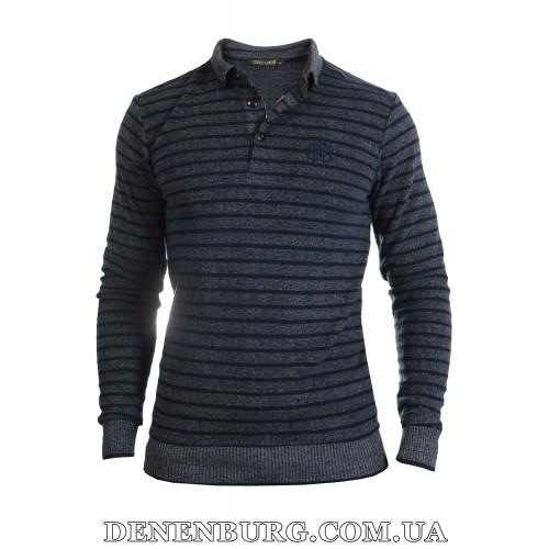 Свитер-поло мужской CAVALLI 9111 тёмно-серый