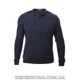 Свитер-поло мужской BRIONI 9440 тёмно-синий