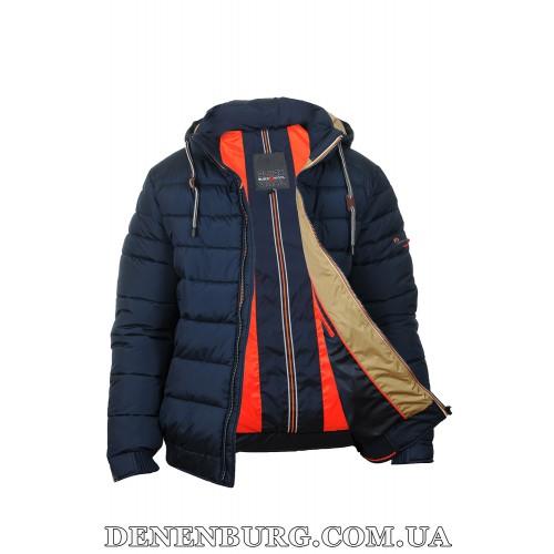 Куртка мужская зимняя BLACK VINYL C17-1242C тёмно-синяя