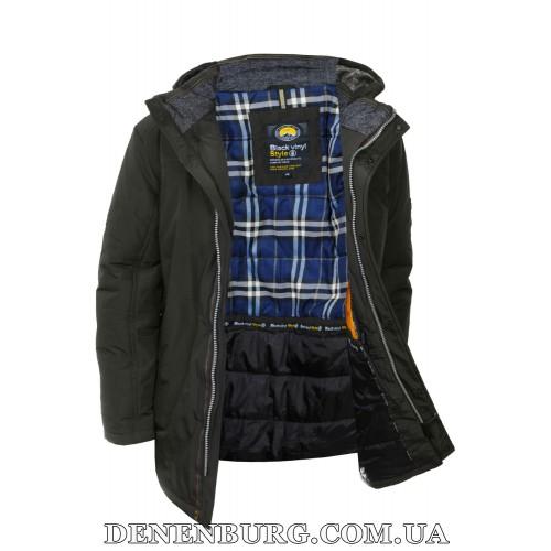 Куртка мужская зимняя BLACK VINYL C18-1326S16 хаки