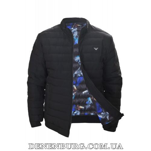 Куртка мужская демисезонная ARMANI D18-181 чёрная