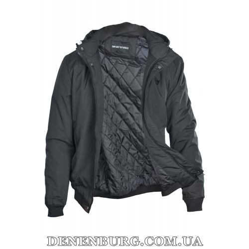 Куртка мужская демисезонная ARMANI H8 чёрная