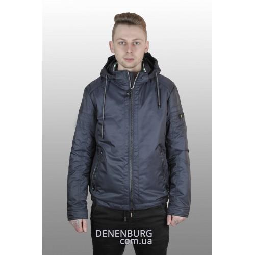 Куртка мужская демисезонная INDACO ITC-17324 тёмно-синяя