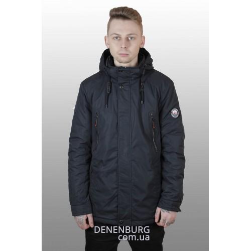 Куртка мужская демисезонная INDACO ITC-17360 тёмно-синяя