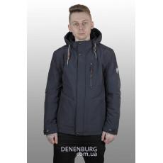 Куртка мужская демисезонная INDACO ITC-330 тёмно-синяя