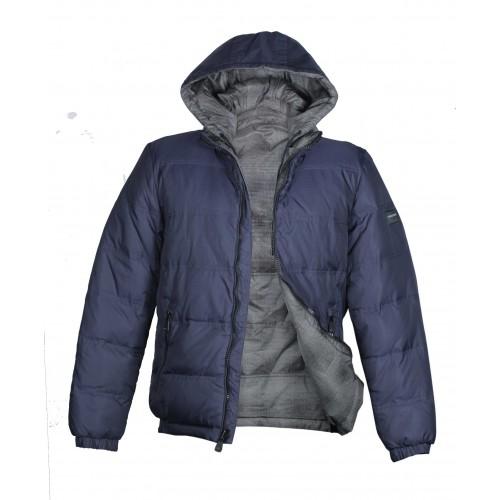 Куртка-пуховик мужская MALIDINU M 12-126 тёмно-синяя
