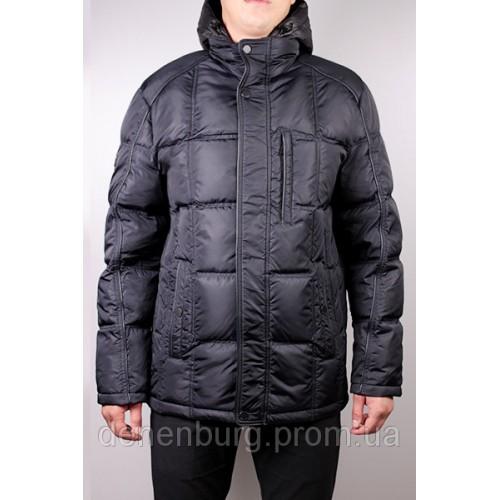 Куртка-пуховик мужская BLACK VINYL P 13-500 тёмно-синяя