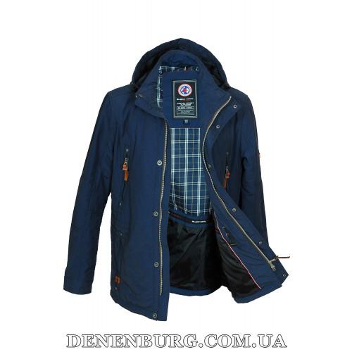 Куртка мужская демисезонная BLACK VINYL TC17-820 синяя