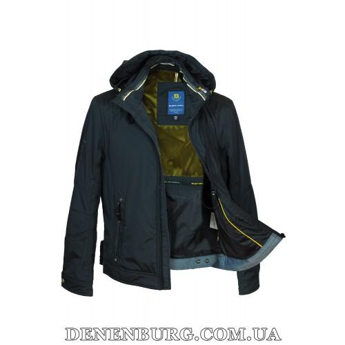Куртка мужская демисезонная BLACK VINYL TC17-830-1 тёмно-синяя