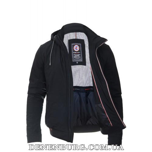 Куртка мужская демисезонная BLACK VINYL TC18-1267 тёмно-синяя