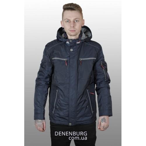Куртка мужская демисезонная WINNER STILE W-6180 тёмно-синяя