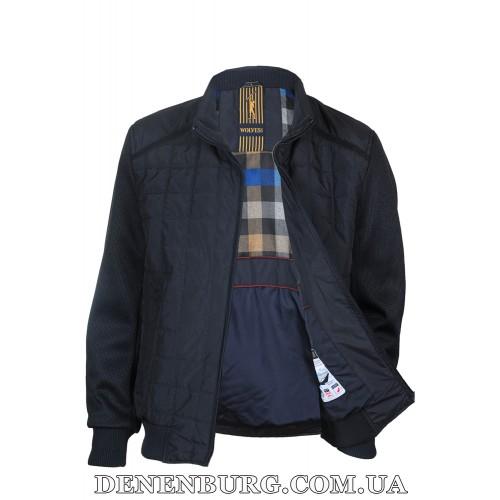 Куртка мужская демисезонная WOLVES W-853 тёмно-синяя