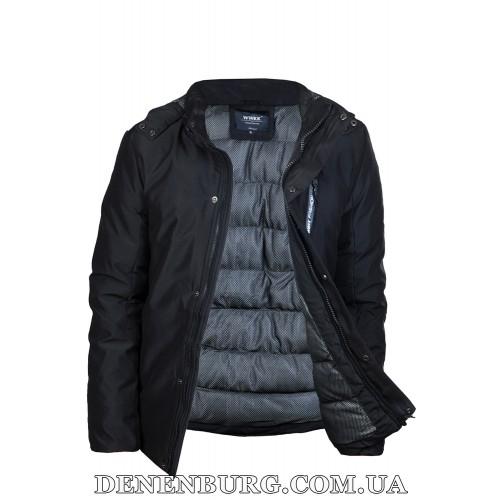 Куртка мужская зимняя WWKK W1806-1 чёрная