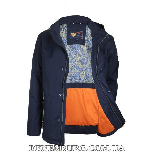 Куртка мужская демисезонная ZPJV ZC-330 тёмно-синяя