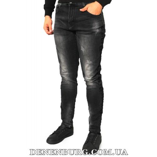 Джинсы мужские JAME-Z 19-HX6610 тёмно-серые