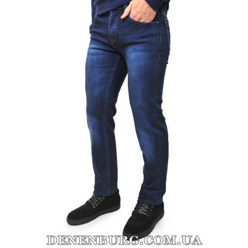 Джинсы мужские утеплённые DISVOCAS 3365 тёмно-синие