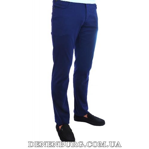 Брюки мужские (лён) STEFANO RICCI 5CP тёмно-синие