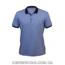 Футболка-поло мужская TONY MONTANA 9672 синяя