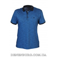 Футболка-поло мужская VIKTORIO 9836 тёмно-синяя