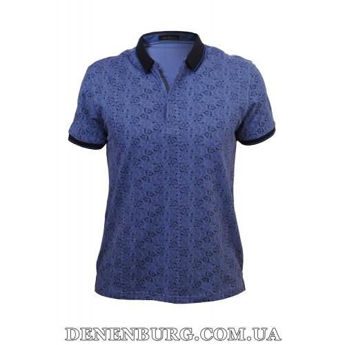 Футболка-поло мужская TONY MONTANA T9641 синяя