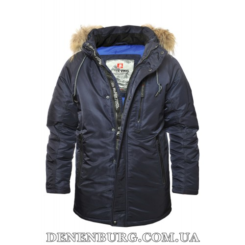 Куртка мужская зимняя BLACK VINYL 19-C19-1561S19M2 тёмно-синяя