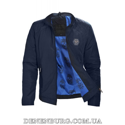 Куртка мужская демисезонная PHILIPP PLEIN 6308 тёмно-синяя