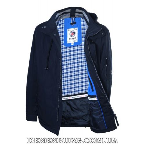 Куртка мужская демисезонная INDACO ITC616 тёмно-синяя