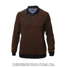 Свитер-поло мужской LE GUTTI 20-400-100 коричневый