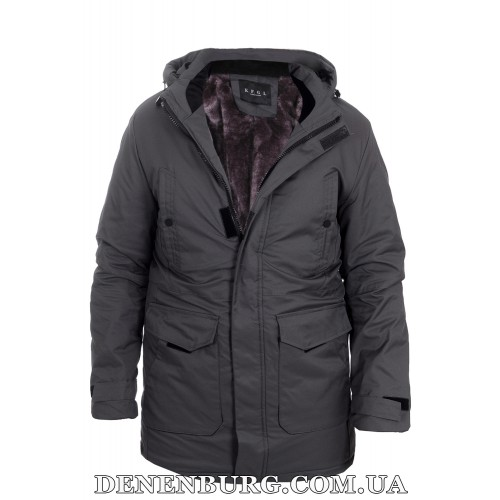 Куртка мужская зимняя KAIFANGELU 21-H520 тёмно-серая