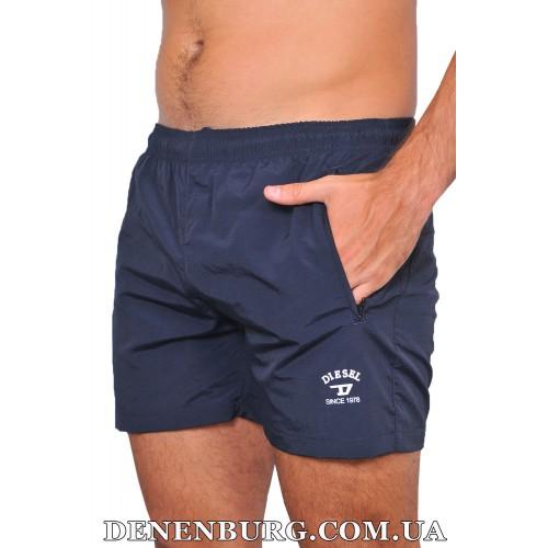 Шорты пляжные мужские DIESEL 19-6014 тёмно-синие